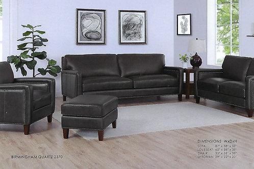 Wilmington 3 pc Top Grain Leather Sofa Set