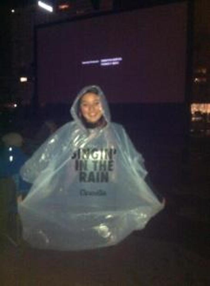 singing in the rain poncho