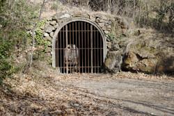 L'entrée de la mine reconstituée