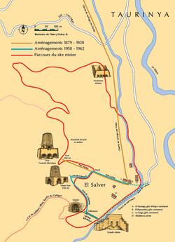 Plan des mines du Salver