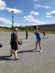 Goalie Slamball training