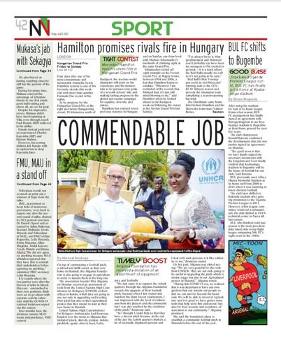New Vision Article_ Ritah Aliguma UNHCR