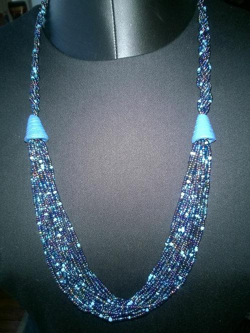 Beaded Necklace- Carefully Handmade [Blue]