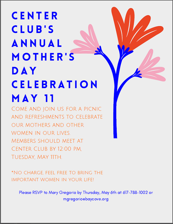 Mother's Day Tea at Center Club 2021