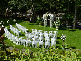 outdoor wedding cerermony