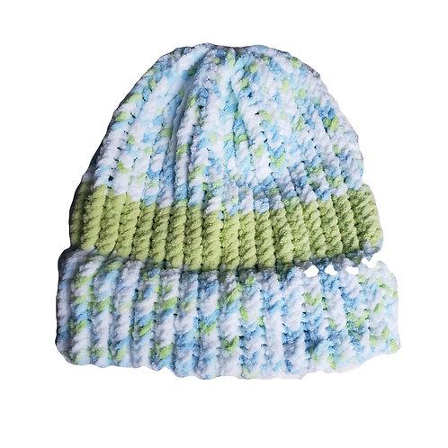 Green Stripe/Baby Blue Blend