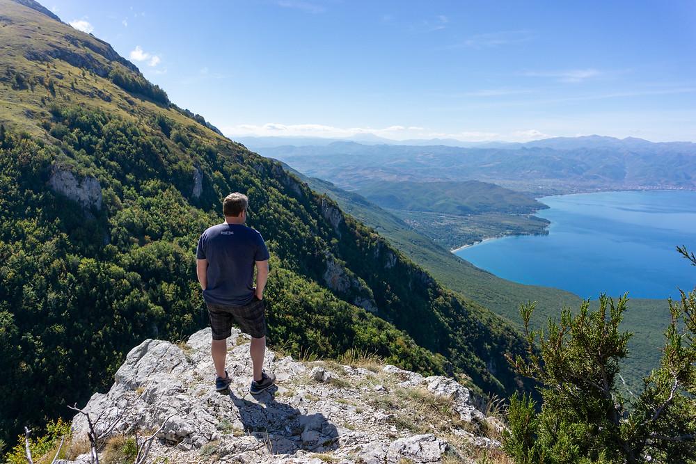 top of Galichica National Park in Macedonia - overlooking lake Ohrid
