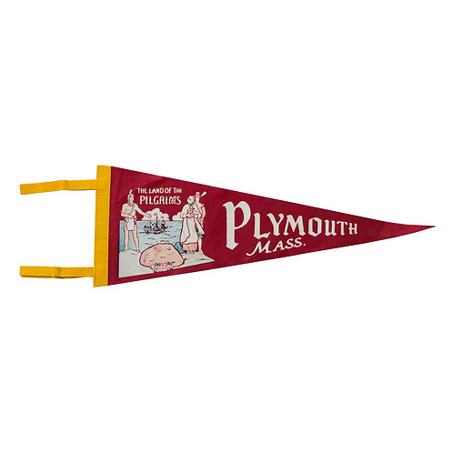 Vintage Plymouth MA Pennant