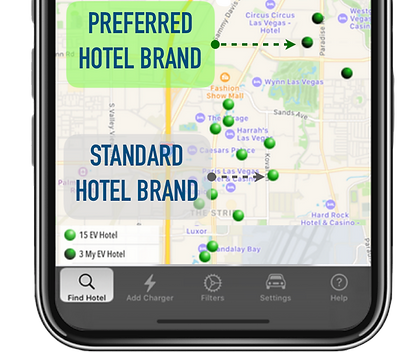 EVHotels is the EV route planning App that enables you to find your favorite hotels that have EV chargers