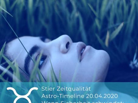 """Astro-Timeline 21.04.2020: Stier läßt grüßen. """"Wenn nichts mehr geht: Earthing geht immer!"""""""
