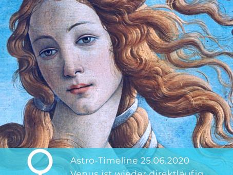 Astro Timeline: Venus läuft wieder direkt