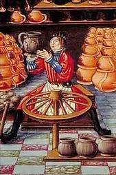 Potier, par Etienne Colaud, enlumineur du 16e siècle