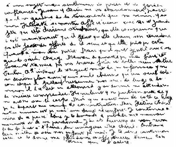 Le pasteur ORANGE : Son dernier message clandestin sorti de la prison de Caen.