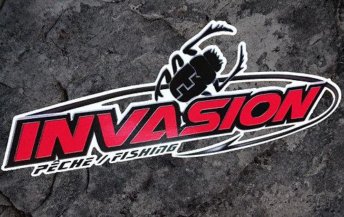 Autocollant Invasion 2 x 6 pouce