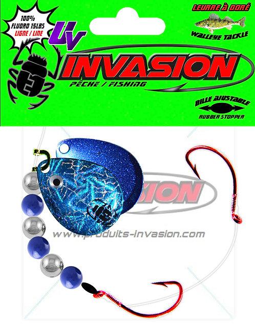 Harnais ajustable WideGap 01 Iridescent Bleu