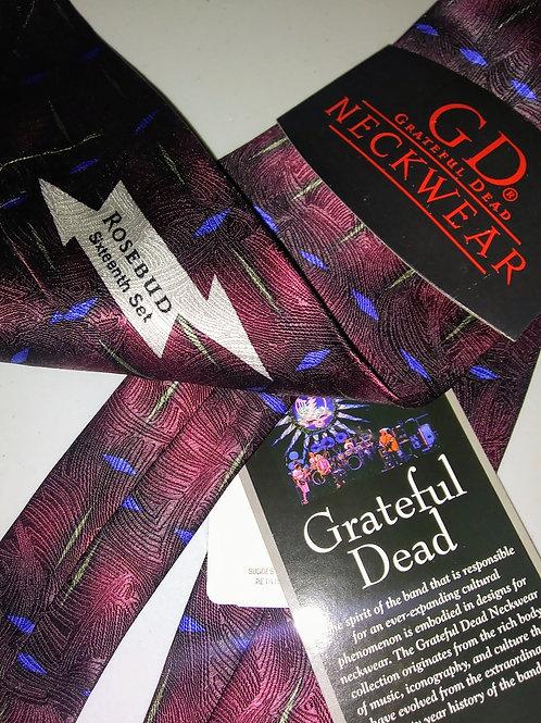 Grateful Dead Neckwear - Men's Silk Tie - Rosebud 16th Set