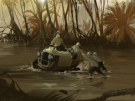 Les Belges traversent le Congo