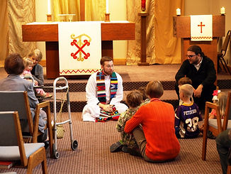 Kids are included in sunday worship at St Andrews