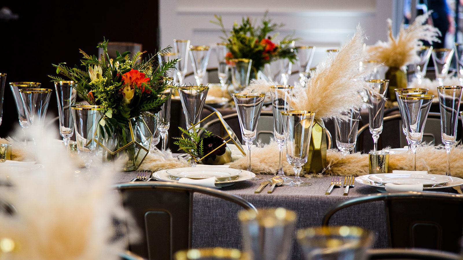 Falls Event Center wedding reception