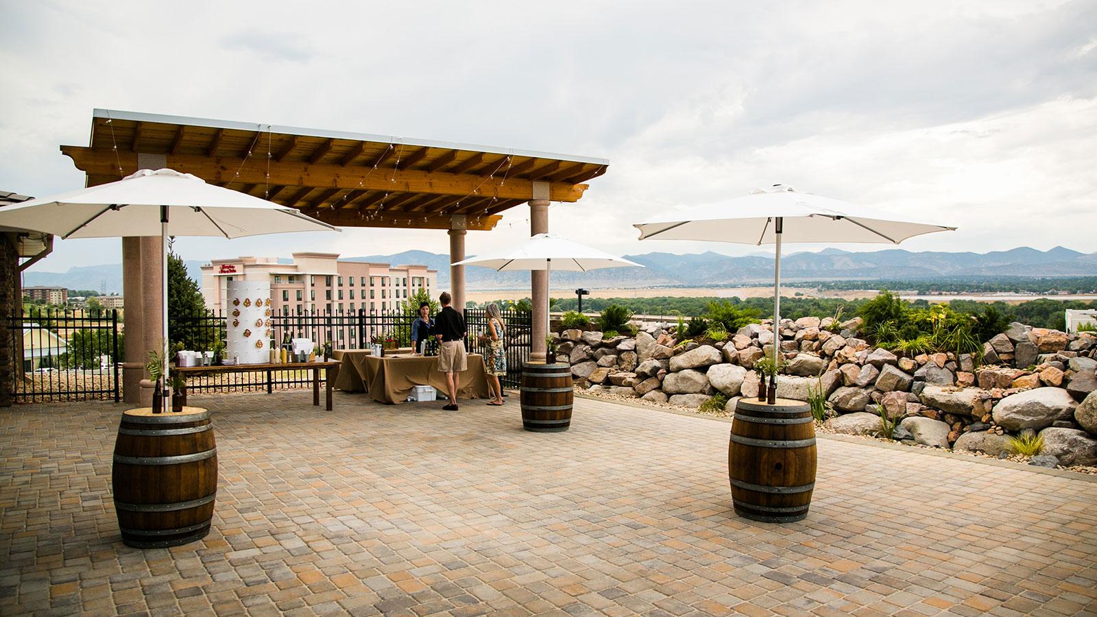 Falls Event Center wedding courtyard