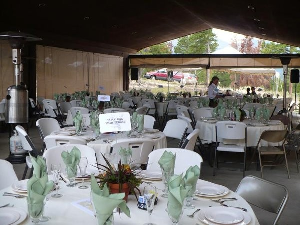YMCA rockies wedding reception