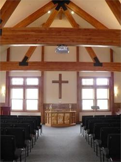 YMCA Rockies indoor chapel wedding