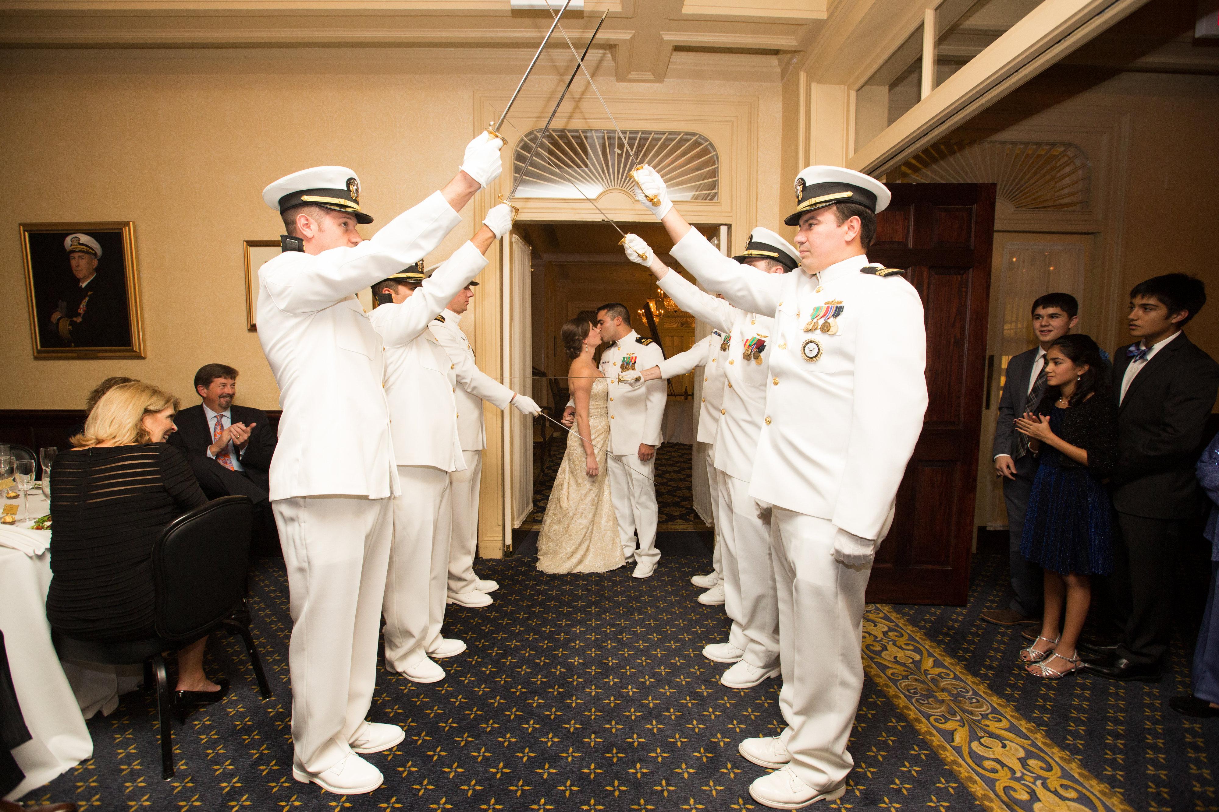 USNA wedding sword arch