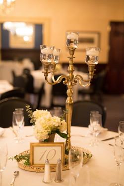 USNA wedding table centerpieces