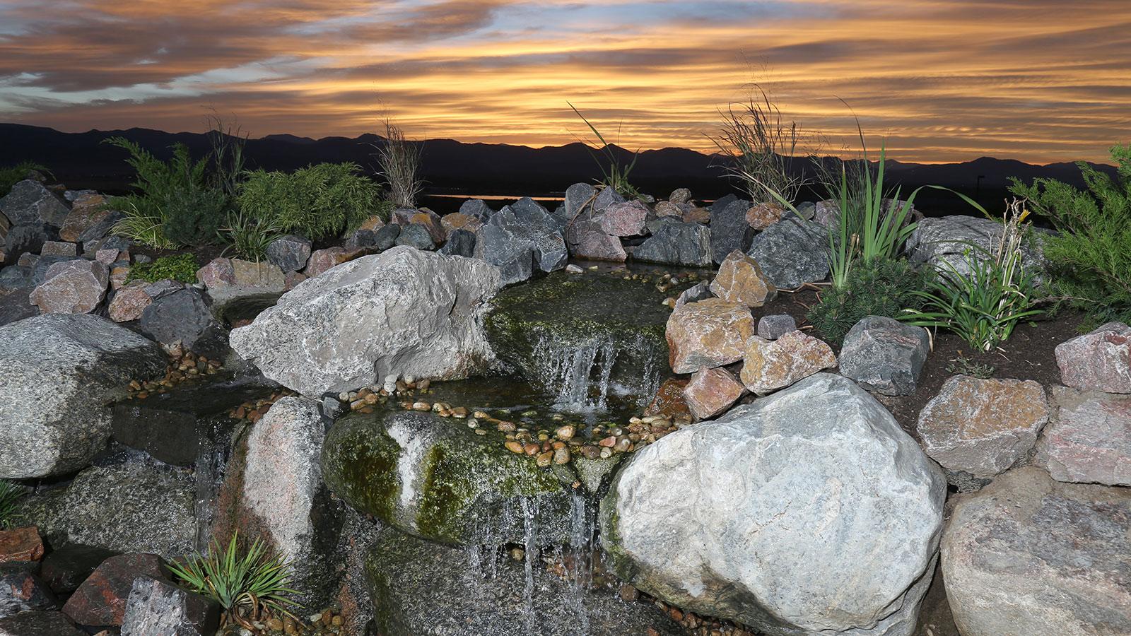 Falls Event Center water falls