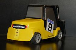 Jungheinrick yellow Forklift rear