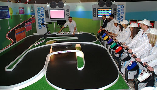 National Grid team racing, Interactive, fun, team building activity to hire