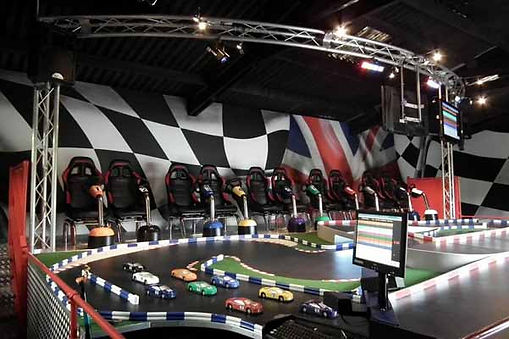 Racing Design work for Scalextric Style Racing Systems at Exhibitons, trade shows, festival, shows, events and parties