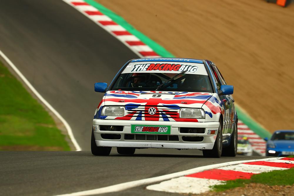The Racing BUg Race Car on Track