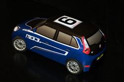 Blue MG3 RC Racing TRB