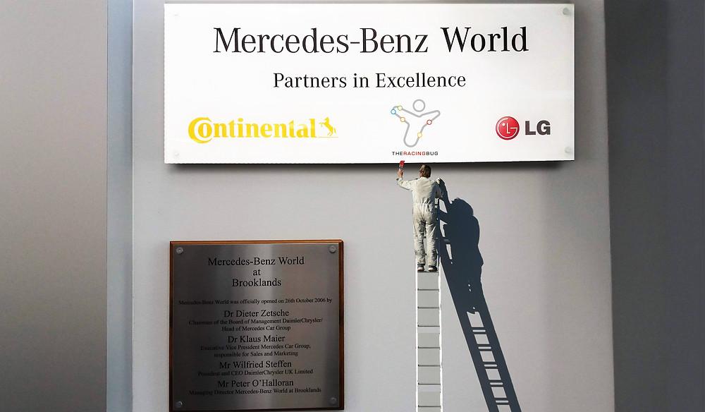 Mercedes & The Racing Bug Branding logos