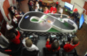 Birds eye party view, Scalextric Style Party Entertainment Hire for Kids