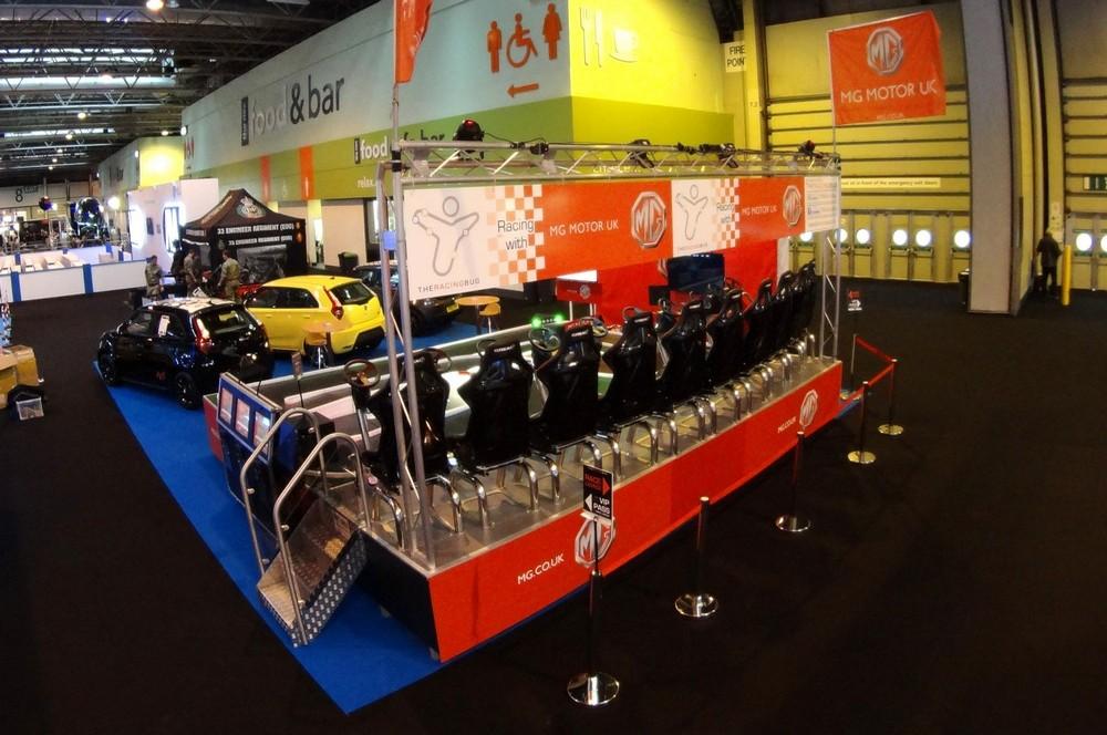 The racing bug seated platform