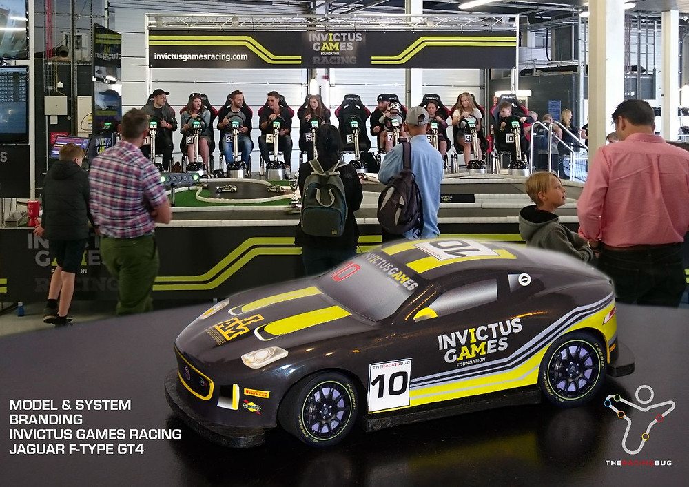 Invictus games Racing Race Car and Exhibition stand