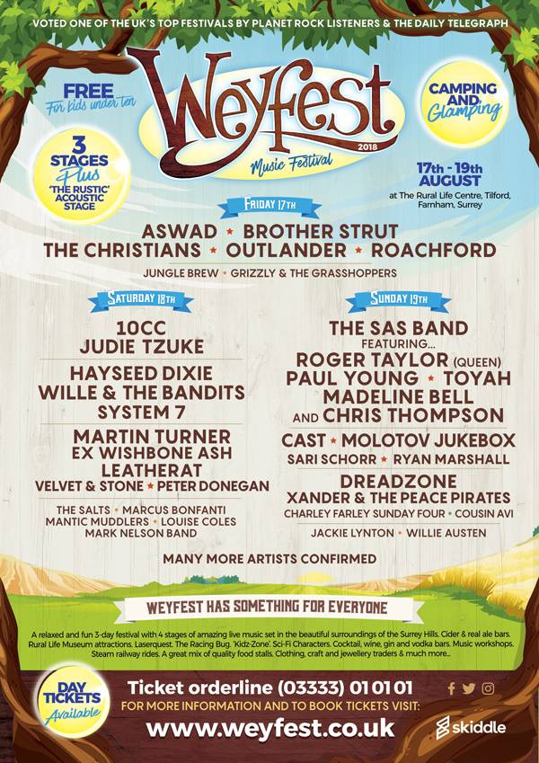 Weyfest Music Festival Entertainment and attractions poster