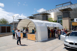 EDF Event shelter with Branding