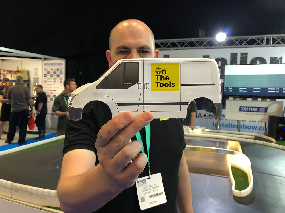 On The Tools Branded Van at Triton exhibition stand