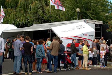 Audi System with large que All Weather Attraction to Hire For Events
