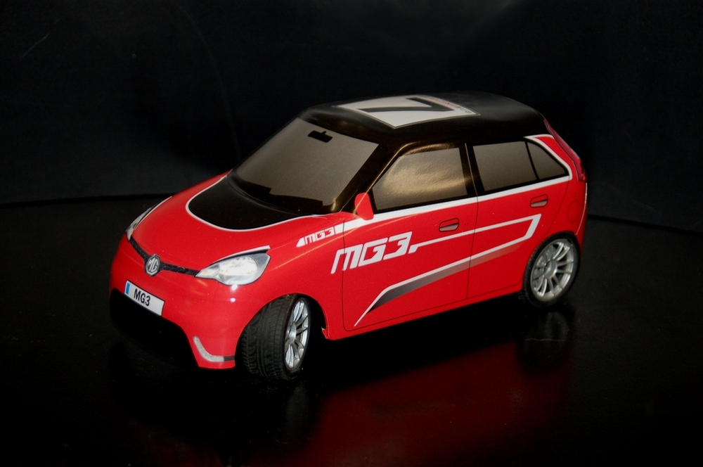 Red Side view MG3 RC Racing TRB