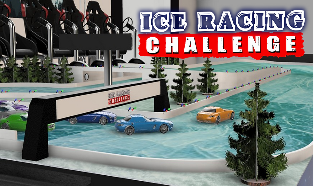 Ice Racing Track Christmas attraction hire