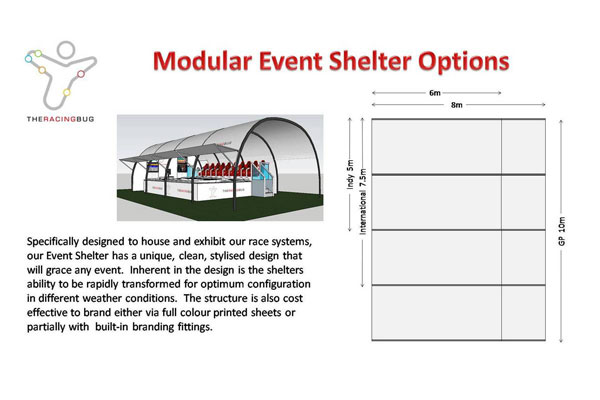 Event Shelter Options and Dimensions