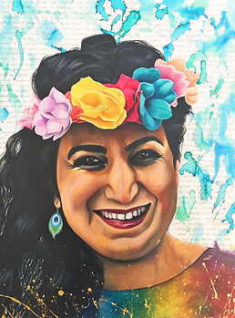 portrait femme illustration peinture art