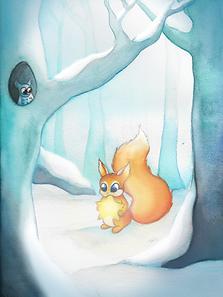 hiver écureuille