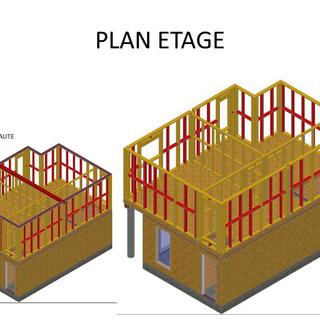Plan d'éxécution fourni au client avant la construction