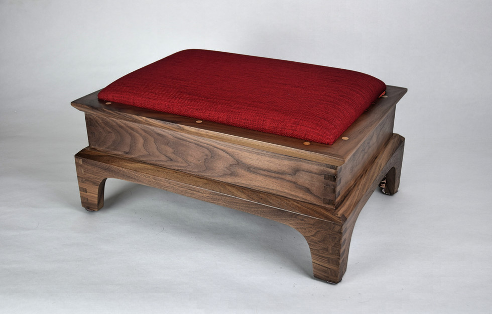 Classic in Walnut with Really Red Top