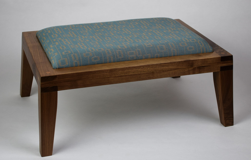 Contemporary in Walnut with Blue Green Top